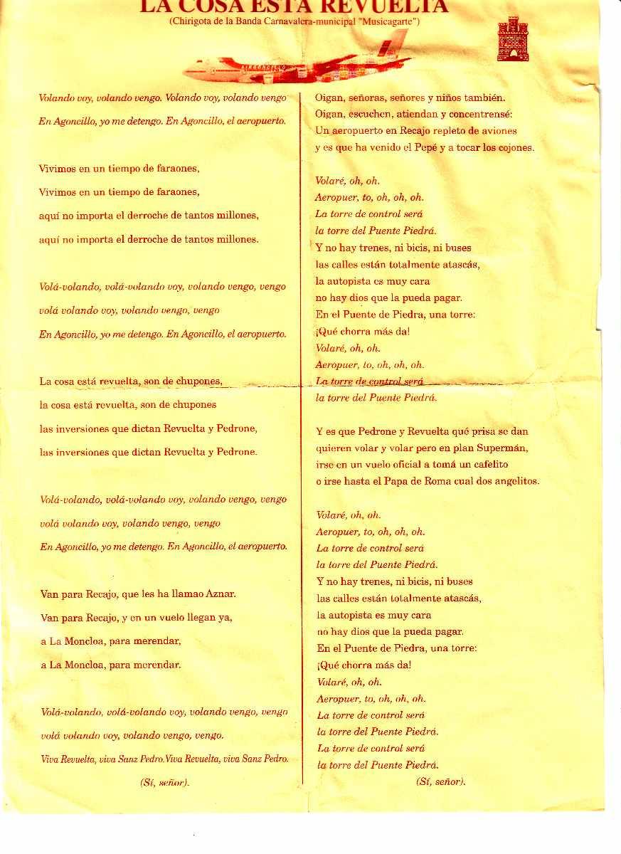 Carnaval 2001(Chirigota)